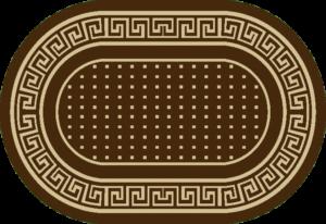 круглый ковер циновка
