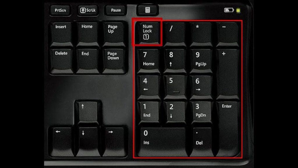 Где находитсяNum Lock на клавиатуре