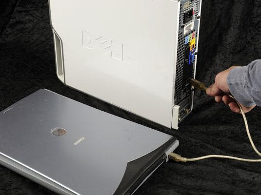 Подключение сканера к компьютеру.
