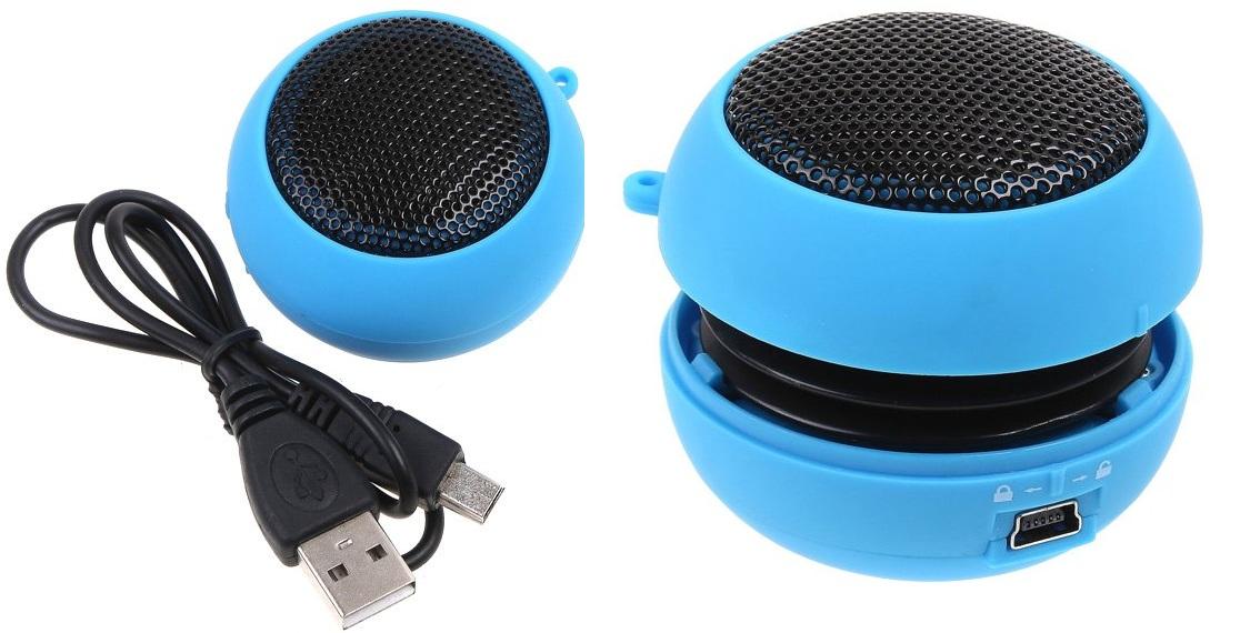Колонка для телефона с разъёмом USB.