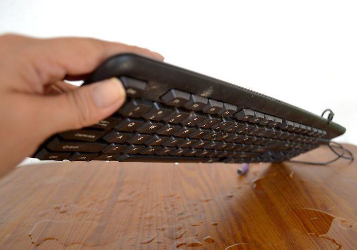 Перевёрнутая клавиатура.