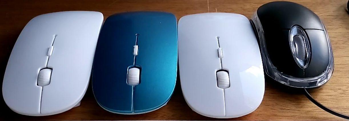 Проводные и беспроводные мышки.