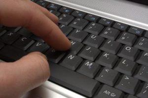 Печать на клавиатуре.