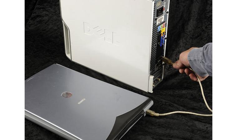 Подключение сканера с помощью кабеля USB.