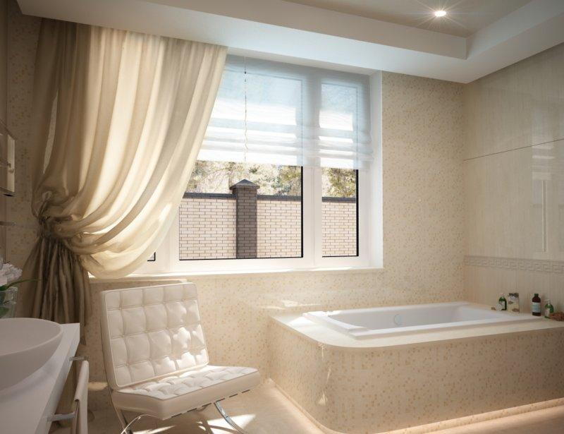 Окно в ванне