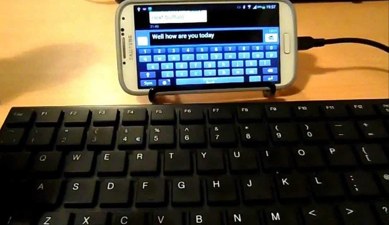 USB-клавиатура к телефону.
