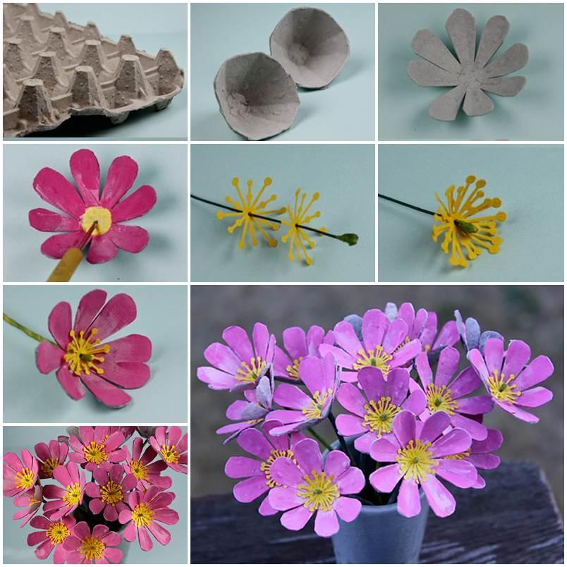 цветы из лотков