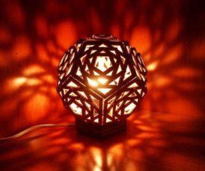 светильник из гофрокартона