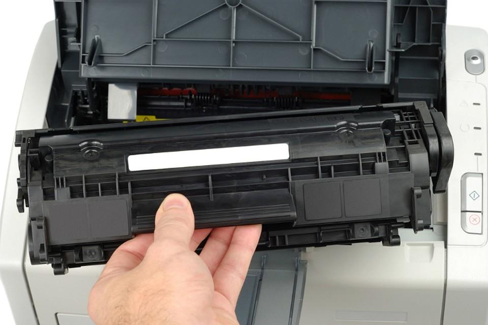 Замена картриджа в принтере