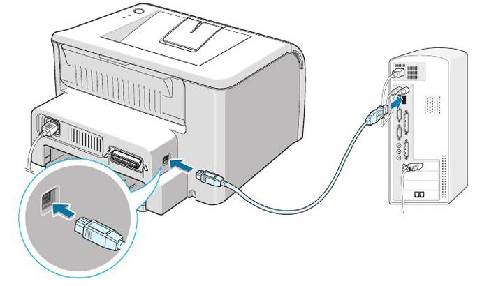 Как подключить принтер к порту
