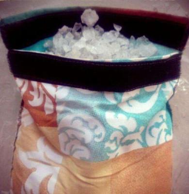 пошитая подушка с солью
