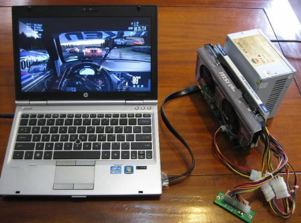 Подключить видеокарту к ноутбуку