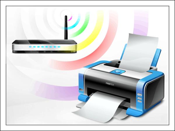 Удобство беспроводного принтера.
