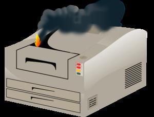Принтер сломался.