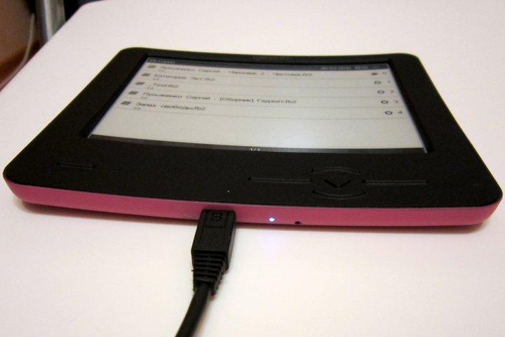 Зарядка электронной книги.