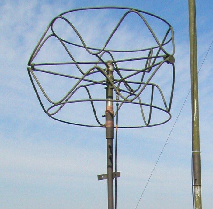 Антенная из коаксиального кабеля.