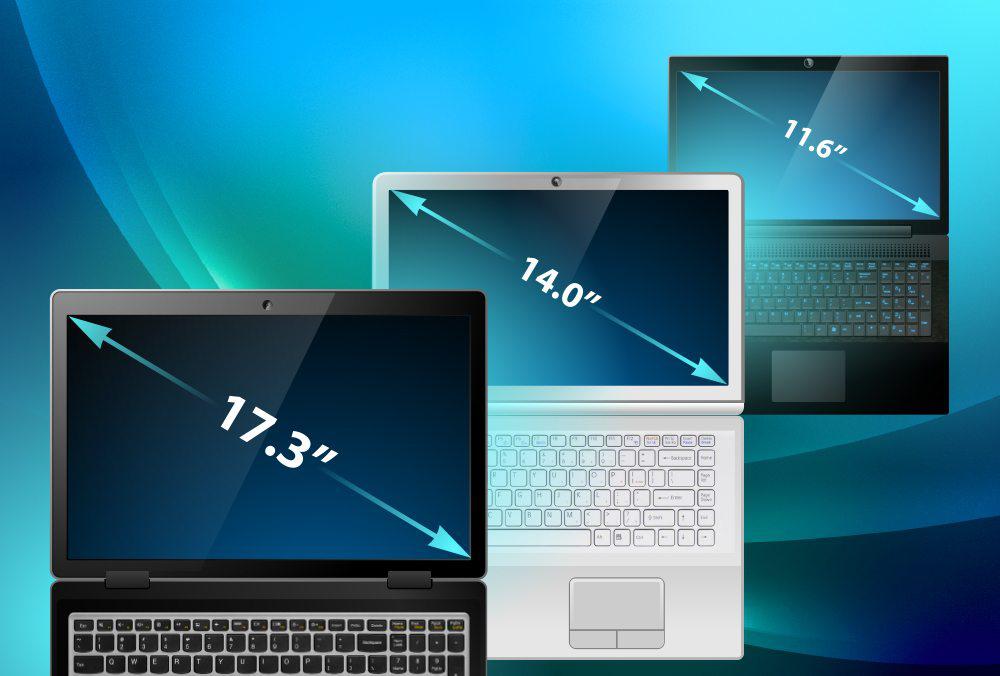 Ноутбуки с разной диагональю.