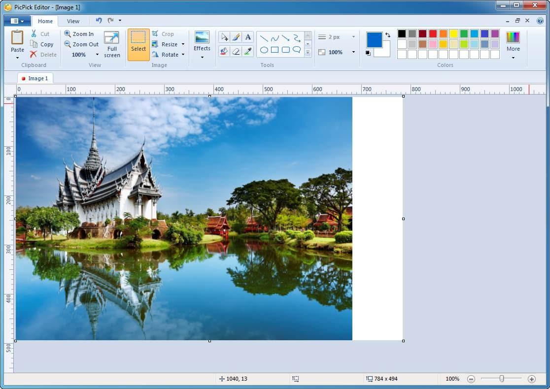 Печать экрана с использованием PickPick