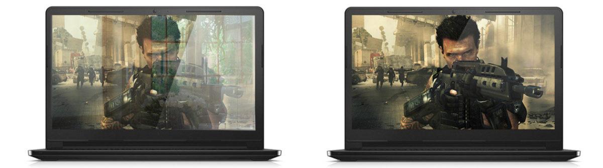 Глянцевый или матовый экран для игр.
