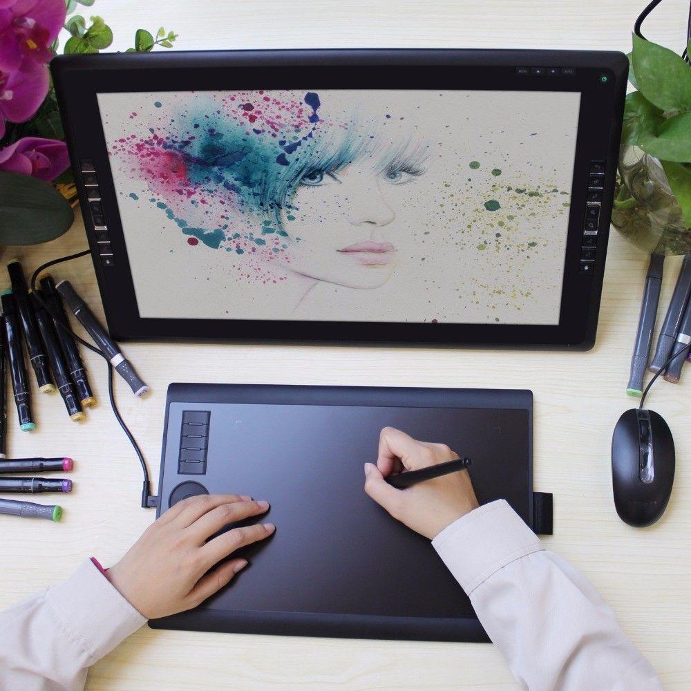 Использование графического планшетва для рисования.