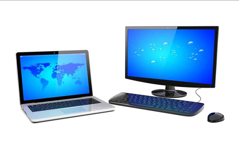 Компьютер и ноутбук.