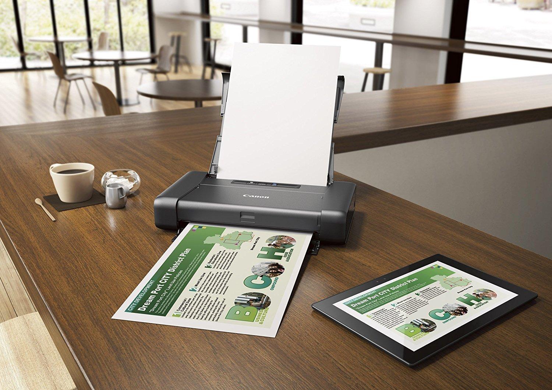 Распечатка на маленьком принтере с планшета.