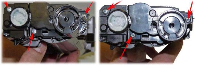 Разборка лазерного ПЗУ перед заправкой.
