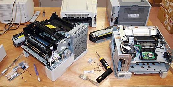 Разобранный принтер
