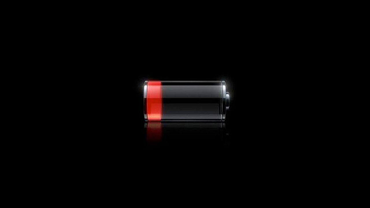Разряженная батарея.