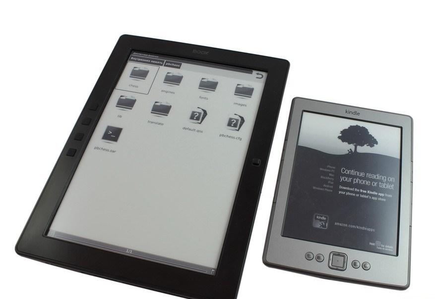 Электронные книги с разной диагональю экрана.