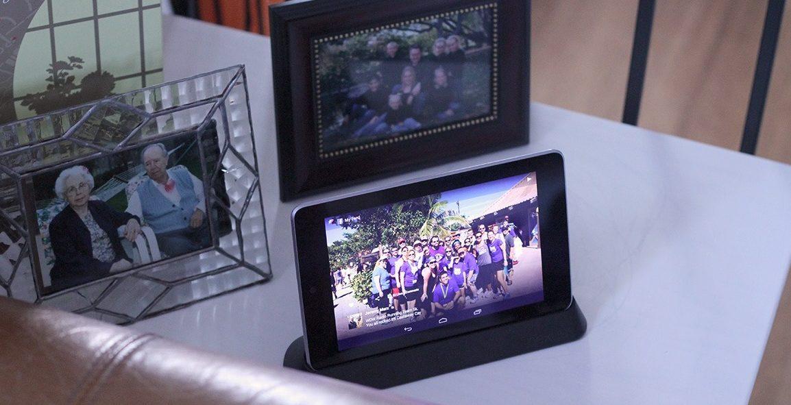 Фоторамка из планшета.