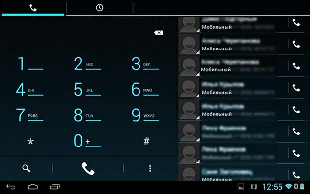 На Андроид, набрать номер можно непосредственно с планшета.