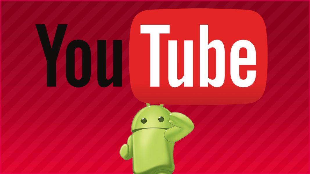 YouTube на планшете.