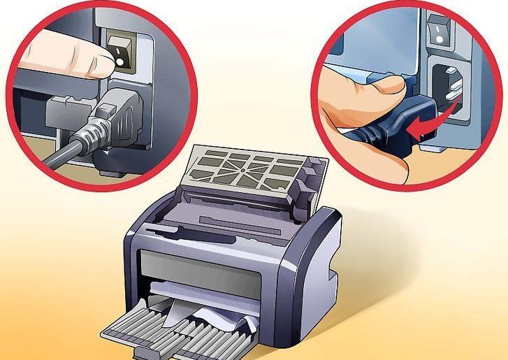 проверка подключения принтера.