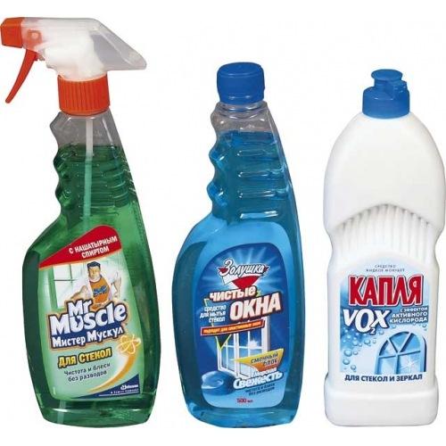 Жидкость для чистки стёкол.
