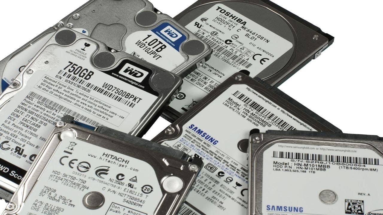 Разные жёсткие диски.