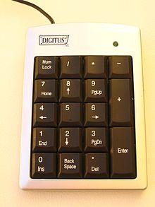 боковая клавиатура