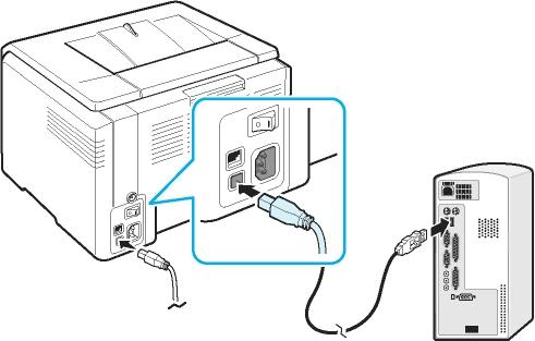 как подключить принтер к компьютеру