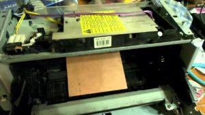 из принтера