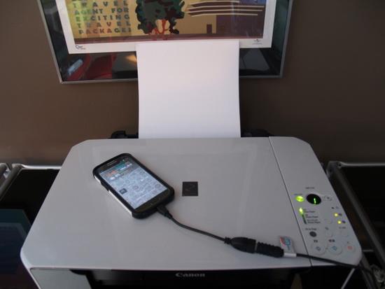 Принтер и телефон