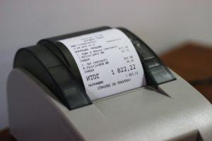 печать чека на принтере