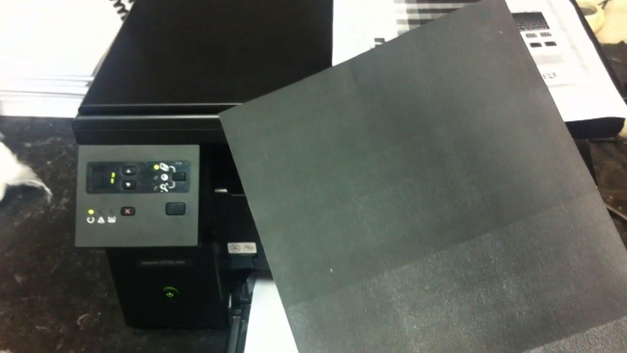 печать черных листов
