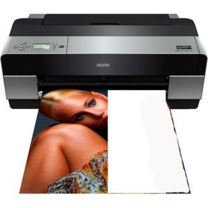 печать на пол листа