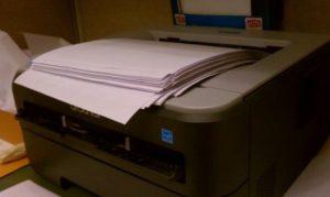 принтер печатает пустые листы