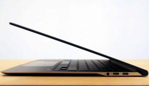 Тонкий ноутбук.