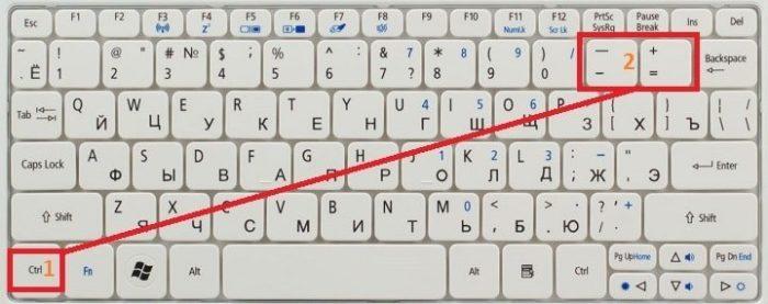 Увеличение шрифта на экране компьютера