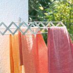Полотенца лучше сушить на балконе.