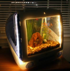 аквариум в старом телевизоре