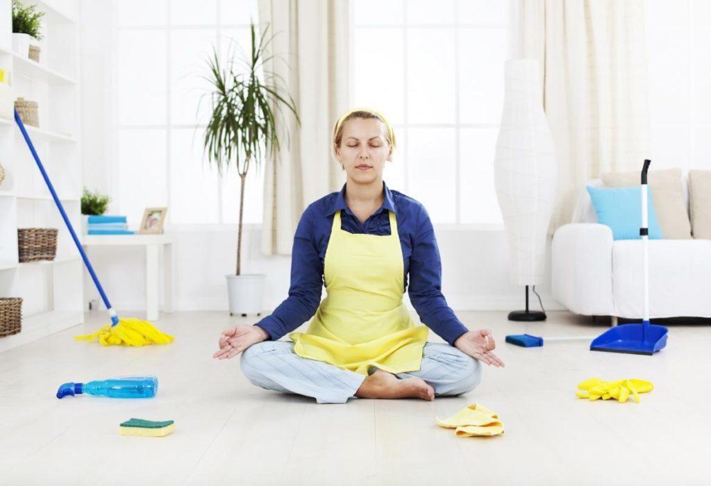 Медитация перед генеральной уборкой.