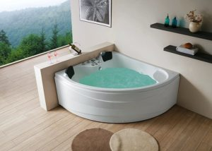 Угловая акриловая ванна.